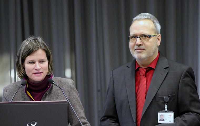 Kerstin Rapp und Jörg Hilger (GIZ)